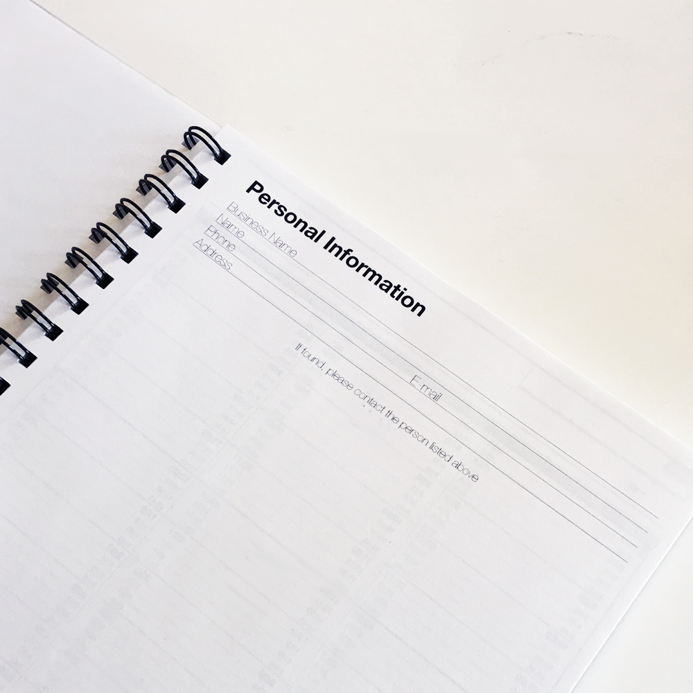 Large Appointment Book | Weekly Appointment Planner