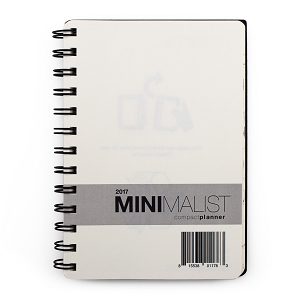 2017 Minimalist Compact Day Planner (4.75 x 6.75 inches)