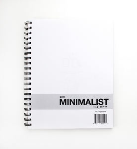 2017 Large Minimalist Day Planner (8.5 x 11 inches)