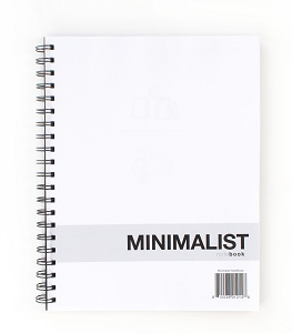 Minimalist NoteBook (8.5 x 11 inches) Side-Bound Polycover Notebook -- Durable Quality Paper, Dotted Lined Paper
