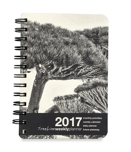 2017 Tree Silhouette Compact Planner and Organizer (4.75 x 6.75 inches)