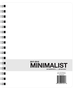 2017-2018 Minimalist Academic Planner - Medium