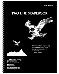 GB-2L -- 2-Line Whaley Gradebook (9 x 12 inches) -- Four Quarters or Six Terms