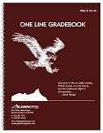 OL-40 -- 1-Line Whaley Gradebook (8.5 x 11 inches) --  Four 10-Week Quarters