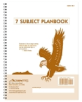 PB-7 -- 7-Subject Whaley Planbook (9 x 12 inches) 40 weeks + Seating Chart