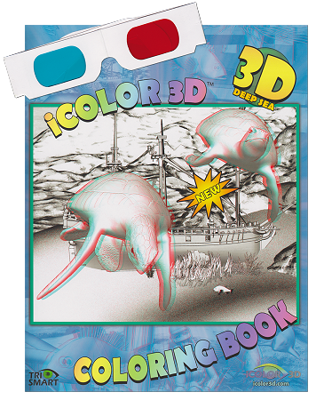 sea life coloring book 3d coloring deep sea coloring book