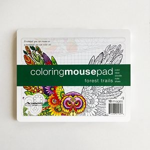 Forest Trails Coloring Mousepad Notepad (Single)