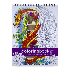 Mythical Enchantments Adult Coloring Book (8.62 x 11.75 inches)