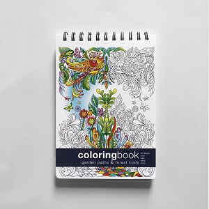Garden Paths and Forest Trails Coloring Book - Small
