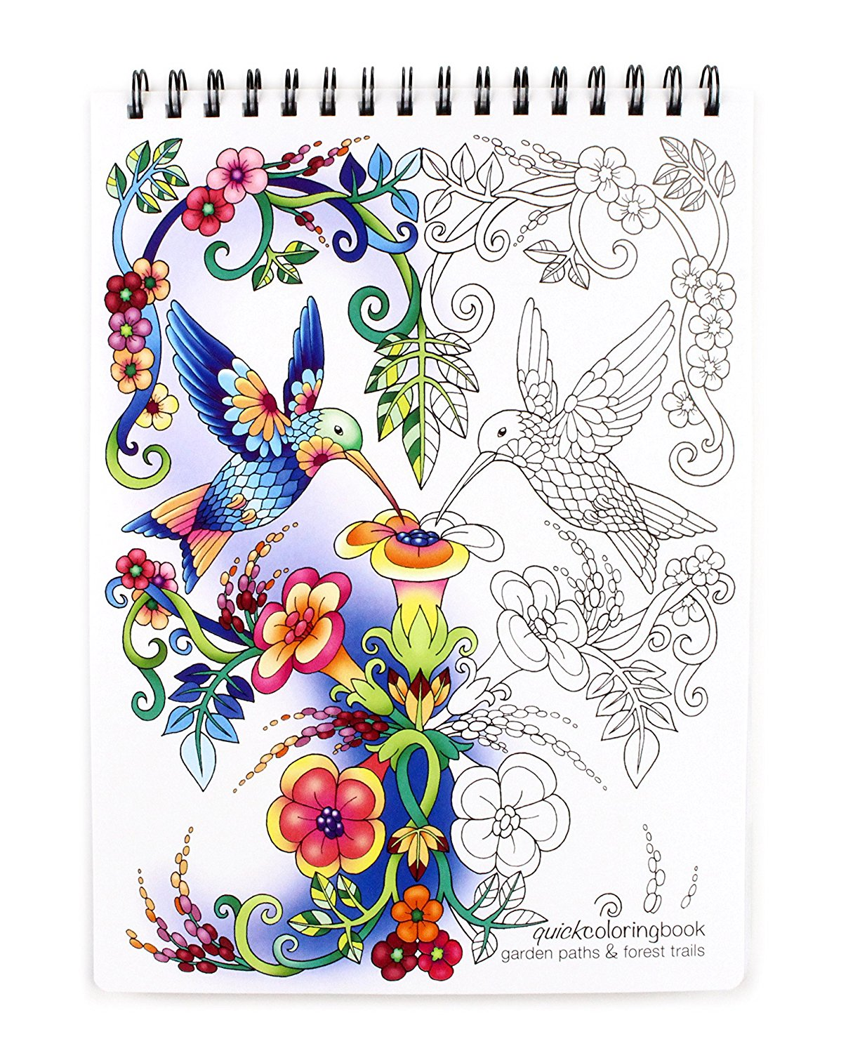 Coloring books - Garden Paths Forest Trails Quick Coloring Book 8 62 X 11 75 Inches