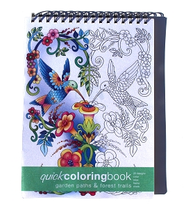 Garden Paths & Forest Trails Quick Coloring Book (8.62 x 11.75 inches)