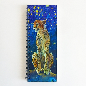 Beautiful Cheetah ListBook (4.25 x 11 inches)