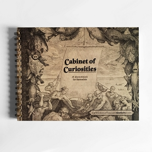 Cabinet of Curiosities De Historia Piscium Sketchbook (11 x 8.5 inches)