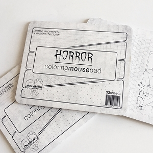 Horror Movies Coloring Mousepad - 3 Pack