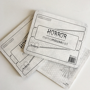 Horror Movies Memo Mousepad - 3 Pack
