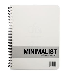 Minimalist Undated Large Day Planner (8.5 x 11 inches)