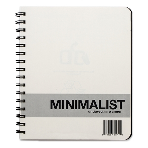 Minimalist Undated Medium Day Planner (7 x 8.5 inches)