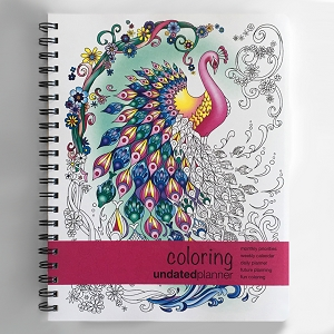 Undated Large Coloring Planner (8.5 x 11 inches)