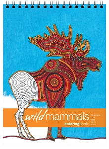 Wild Mammals Large Adult Coloring Book