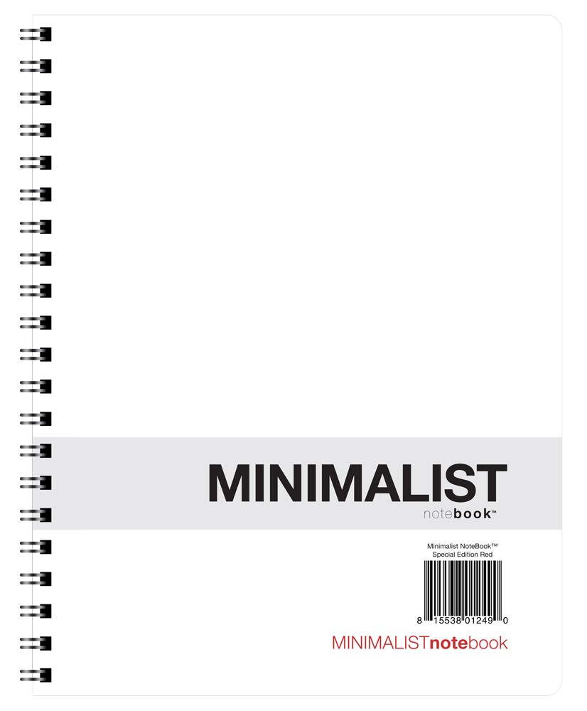 Minimalist NoteBook Poly Style Special Edition Red