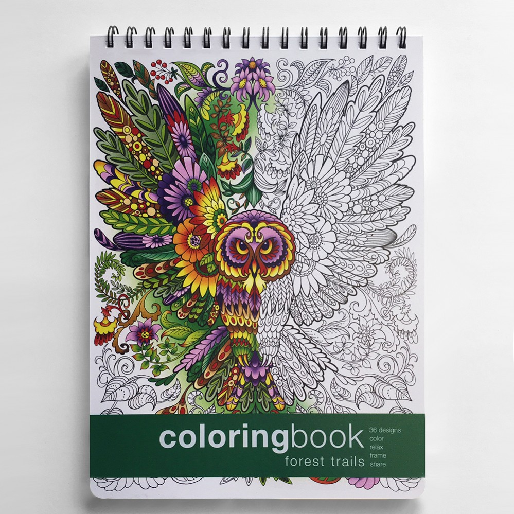 forest trails adult coloring book 862 x 1175 inches - Nature Coloring Book
