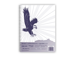 Whaley Gradebook 9GB-049 (9 x 12 inches) 3-Line Grade And Attendance Record Book, Four 10-Week Sessions