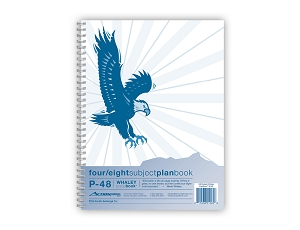 Whaley Planbook P48 (9 x 12 inches) 4/8-Subject Grade Book For Lesson Plans, Attendance And Seating Chart, 40 Weeks