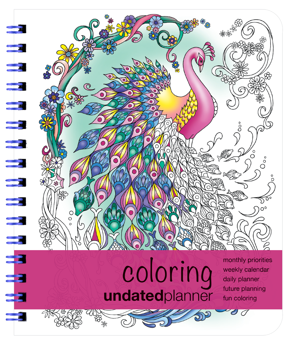 Undated Planner | Coloring Book Planner | Action Agendas