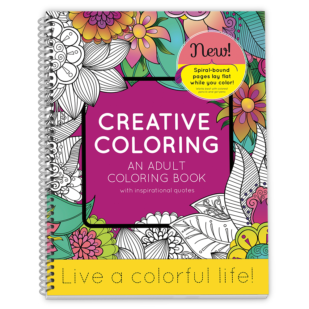 Color Your Day Adult Coloring Book Creative Coloring Variation 1