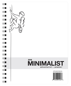 2018 Minimalist Day Planner - Adventurist