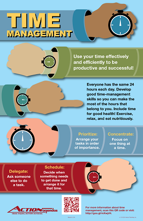 Life Skills Time Management Poster 11 X 17