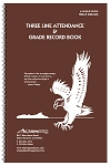 Whaley Gradebook (7.75 x 12 inches) 3-Line Grade And Attendance Record Book, Six 8-Week Sessions (6GB-066)
