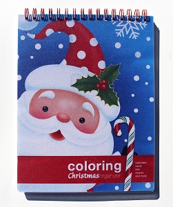 Action Publishing Coloring Christmas Organizer (8.5 x 11 inches)