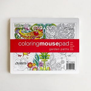 Garden Paths Coloring Mousepad Notepad (Single)