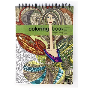 Elegant Elong Adult Coloring Book Large Adult Coloring Book