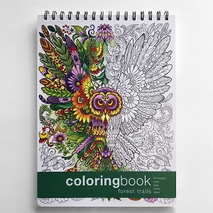Forest Trails Adult Coloring Book (8.62 x 11.75 inches)