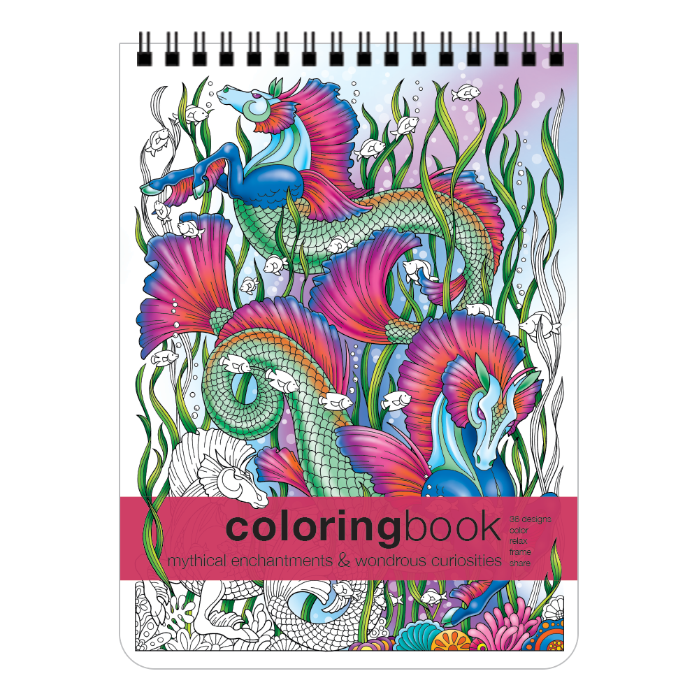 Mythical Enchantments Wondrous Curiosities Coloring Book Kathryn