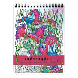 Mythical Enchantments & Wondrous Curiosities Large Adult Coloring Book