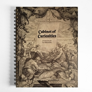 Cabinet of Curiosities De Historia Piscium NoteBook (8.5 x 11 inches)