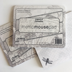 Cabinet of Curiosities Dragonfly Memo Mousepad Notepad - 3 Pack