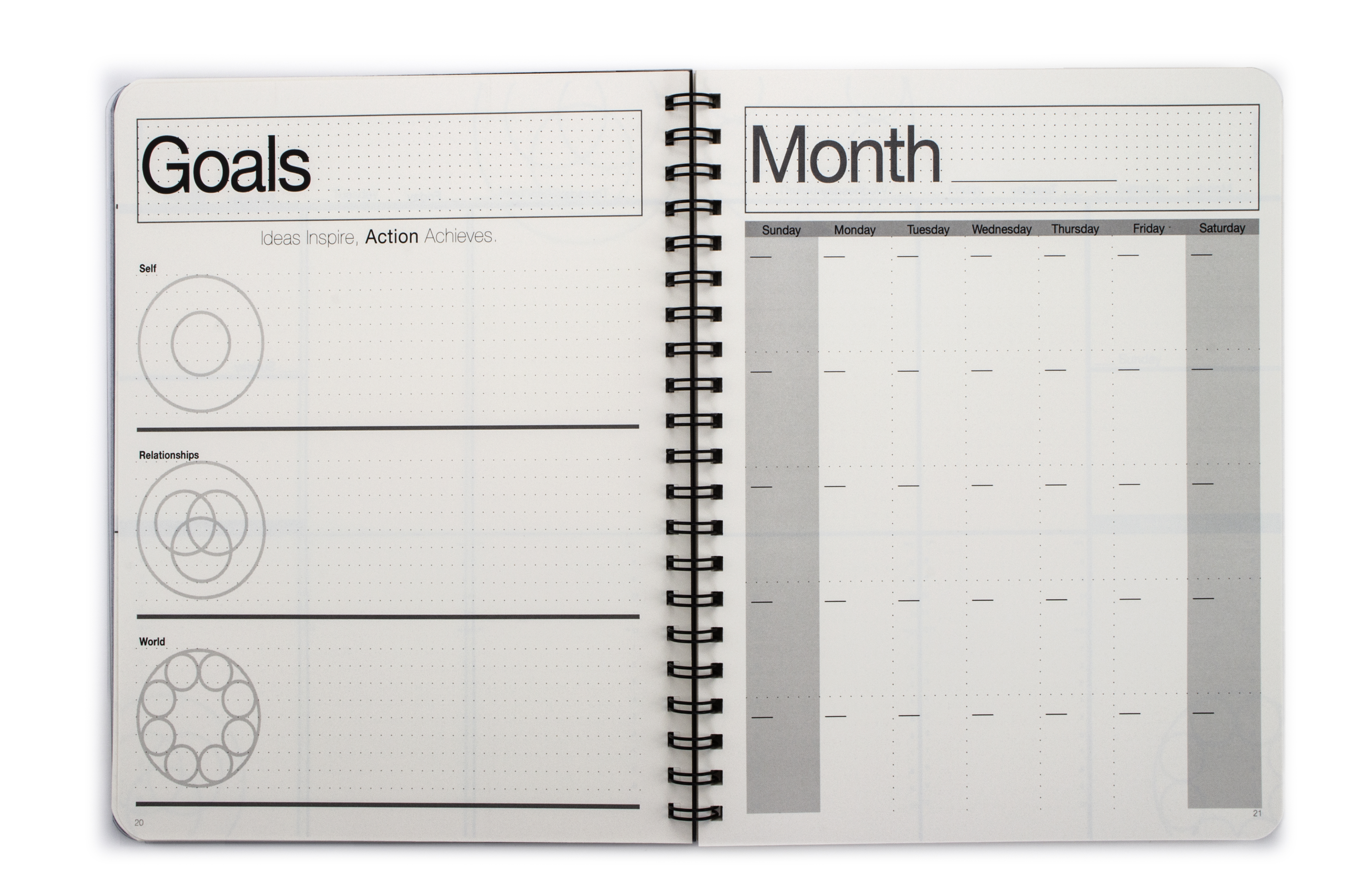 picture regarding Day Planners titled UNDATED Minimalist Working day Planner® (8.5 X 11 inches)