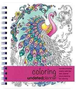 Undated Medium Coloring Planner (7 x 8.5 inches)