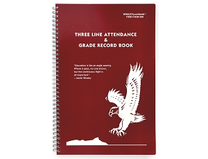 Whaley Gradebook 6GB-066 (7.75 x 12 inches) 3-Line Grade And Attendance Record Book, Twelve 8-Week Periods
