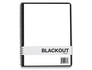 Minimalist Blackout Notebook