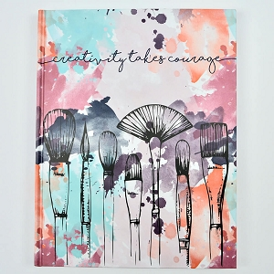 Hard-Cover Sketchbook with Watercolor Design