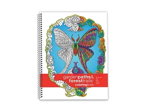 Action Publishing Coloring Book: Garden Paths & Forest Trails