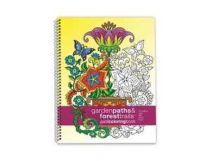 Action Publishing Quick Coloring Book: Garden Paths & Forest Trails Large Sidebound (8.5 x 11 inches)