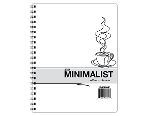 2021 Minimalist Day Planner - Coffee