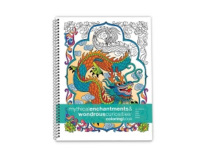 Action Publishing Coloring Book: Mythical Enchantments & Wondrous Curiosities · Large Sidebound (8.5 x 11 inches)