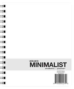 2018-2019 Medium Minimalist Academic Planner (7 x 8.5 inches)